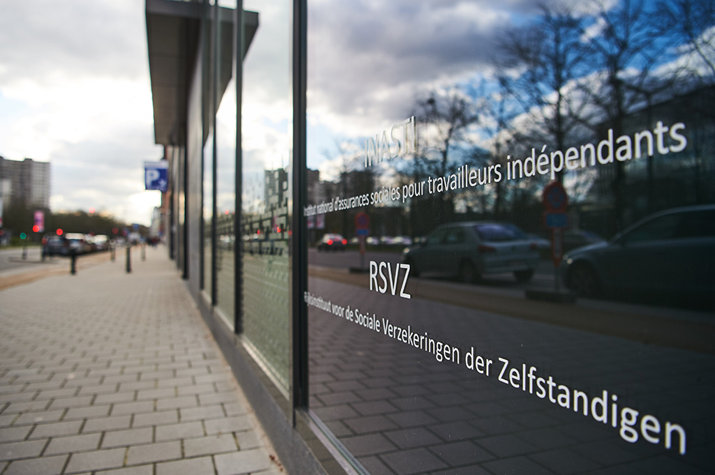 Facade de l'INASTI à Bruxelles
